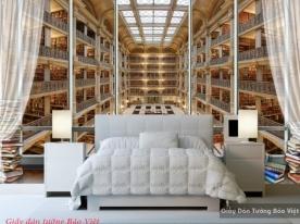 Giấy dán tường hình thư viện v019