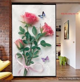 Giấy dán tường hoa hồng H147