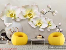 Giấy dán tường hoa lan 3d FL140