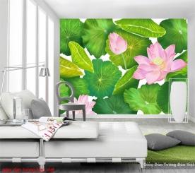 Giấy dán tường hoa sen H221