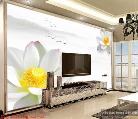 Giấy dán tường hoa sen h211