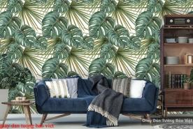 Giấy dán tường lá cây nhiệt đới Tr270