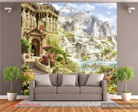 Giấy dán tường phong cảnh 3d d190
