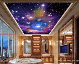 Giấy dán trần nhà 3d galaxy c128