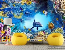 Giấy dán tường 3D đại dương S149