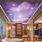 Giấy dán tường 3D dán trần nhà màu tím C066