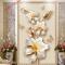 Giấy dán tường 3D hoa giả ngọc K16339519
