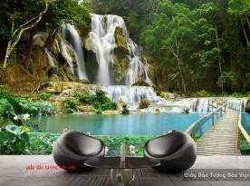 Giấy dán tường 3D thác nước W143