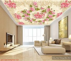 Giấy dán tường 3d dán trần nhà c146