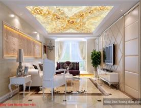 Giấy dán tường 3d giả ngọc dán trần nhà fl161