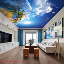 Galaxy ceiling wallpaper c188