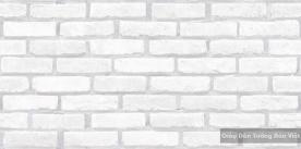 Giấy dán tường Giả gạch màu trắng 8267-1
