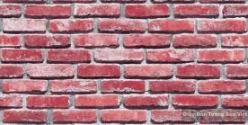Giấy dán tường giả gạch màu đỏ hồng 8267-4