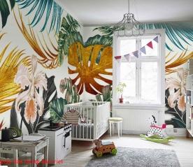 Wallpaper of leaves me026