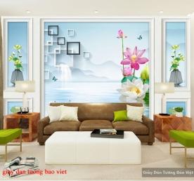 Giấy dán tường phòng khách 3d-140