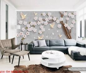 Giấy dán tường phòng khách 3d fl154