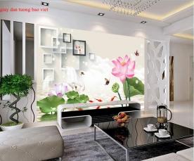 Giấy dán tường phòng khách 3d-159