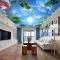 Giấy dán tường phòng khách dán trần nhà c198