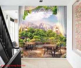 Giấy dán tường phòng khách fm439