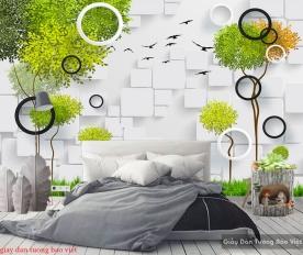 Giấy dán tường phòng ngủ 3d-122