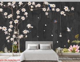 Giấy dán tường phòng ngủ 3d H230