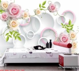 Giấy dán tường phòng ngủ 3d d235