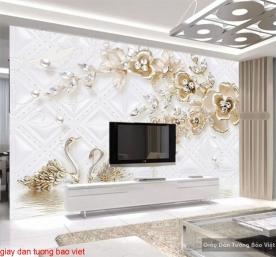Giấy dán tường phòng ngủ 3d fl156