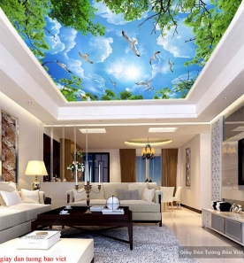 Giấy dán tường phòng ngủ dán trần nhà C162