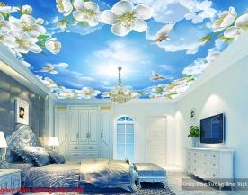 Giấy dán tường phòng ngủ dán trần nhà c153