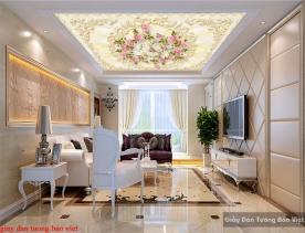 Giấy dán tường phòng ngủ dán trần nhà c156
