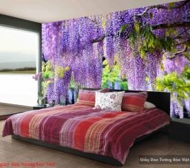 Giấy dán tường phòng ngủ màu tím H205