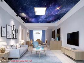 Giấy dán tường phòng ngủ dán trần nhà c189