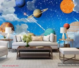 Giấy dán tường phòng trẻ em galaxy v325