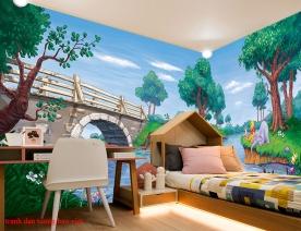 Giấy dán tường trẻ em panorama kid235