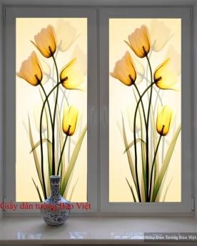 Tranh dán kính hoa tulip K066