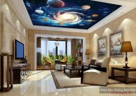 Tranh dán trần nhà 3d galaxy v205