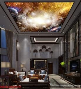 Tranh dán trần nhà galaxy C136
