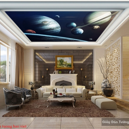 Tranh dán trần nhà galaxy c142