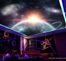 Tranh dán trần nhà galaxy d185