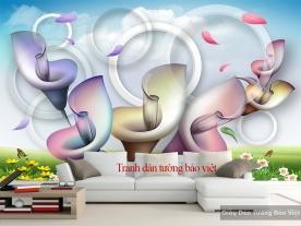 Tranh dán tường 3D-047