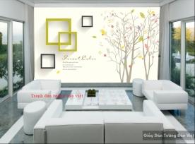 Tranh dán tường 3D đẹp 3D-058