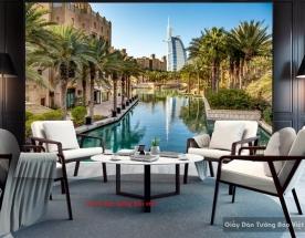 Tranh dán tường 3d cảnh Dubai fm338