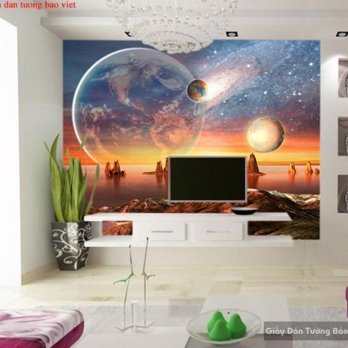Tranh dán tường 3d galaxy C158