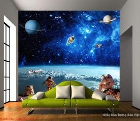 Tranh dán tường 3d galaxy c141