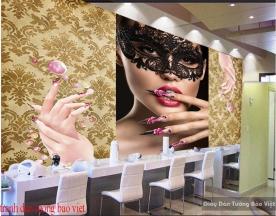 Tranh dán tường cho tiệm nail Fm371