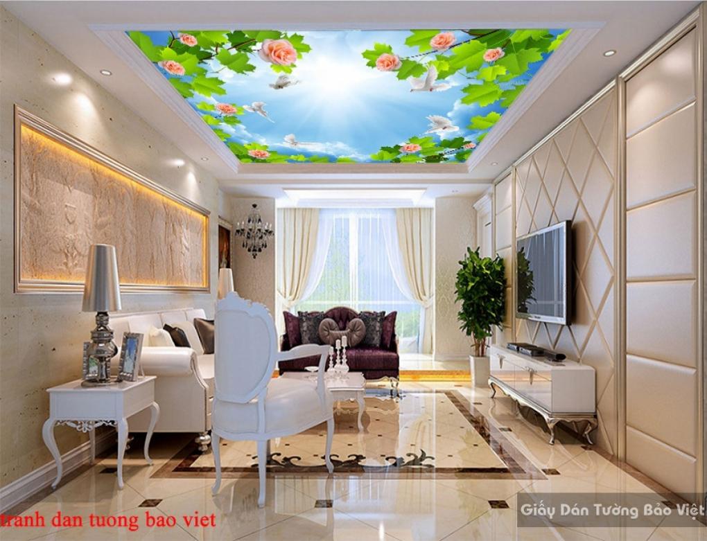 Tranh dán tường dán trần nhà C163