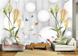 Tranh dán tường đẹp 3D-048