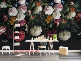 Tranh dán tường hoa 3D đẹp K16071507