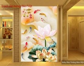 Tranh dán tường hoa sen 3D FL083