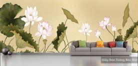 Tranh dán tường hoa sen đẹp H129
